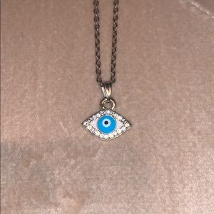 Evil eye pendant with gold chain 🧿